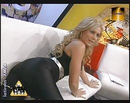 glänzend schwarzen engen Spandex Lycra leggins
