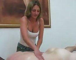eine Massage zu cum für!
